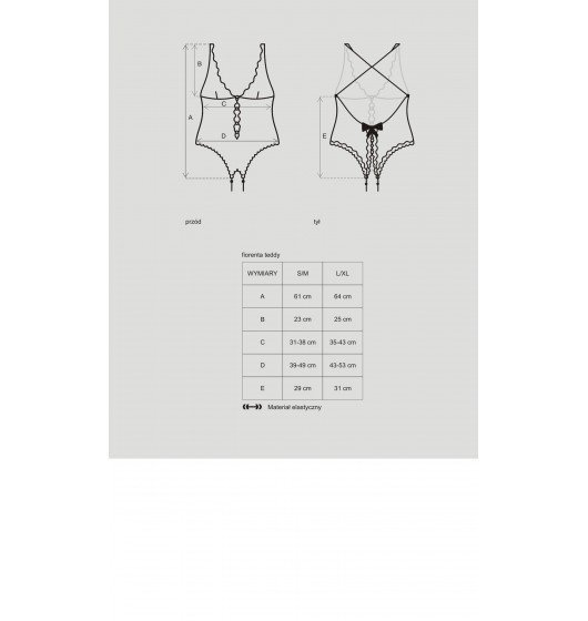 Obsessive Fiorenta body L/XL