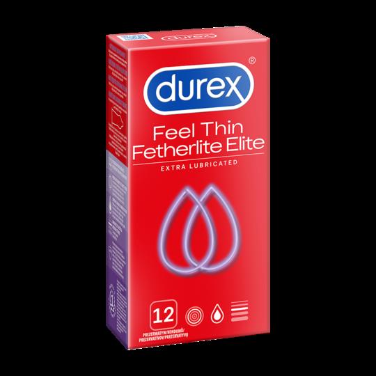 Durex Fetherlite Elite - Prezerwatywy ekstra nawilżane (1op./10 szt.)