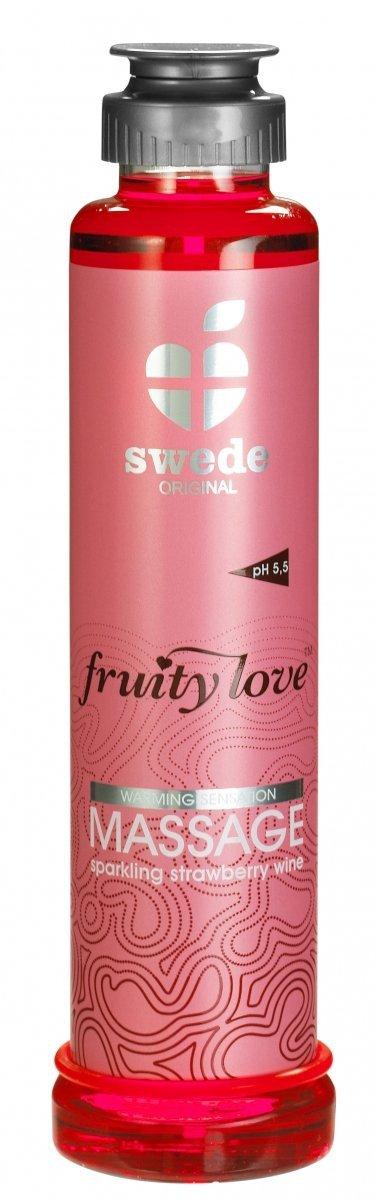 Swede Fruity Love Massage - owocowy żel do masażu 200 ml (wino truskawkowe)