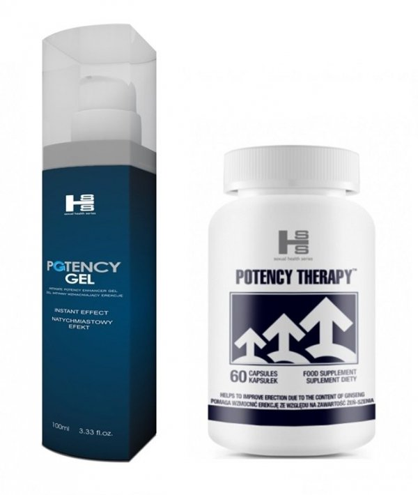 Zestaw Potency Therapy 60kapsułek + Potency Żel 100ml