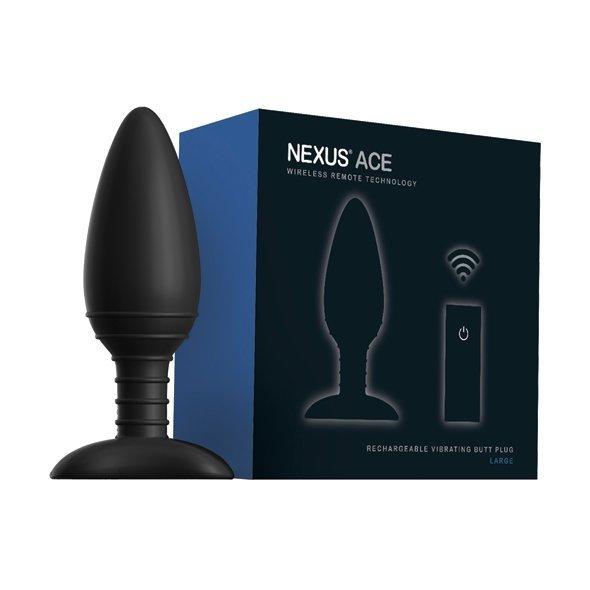 Nexus korek analny z wibracjami - Ace Large (czarny)
