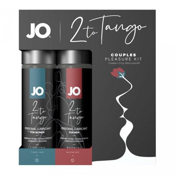 System JO - 2 to Tango Couples Pleasure Kit - zestaw preparatów stymylujących dla par