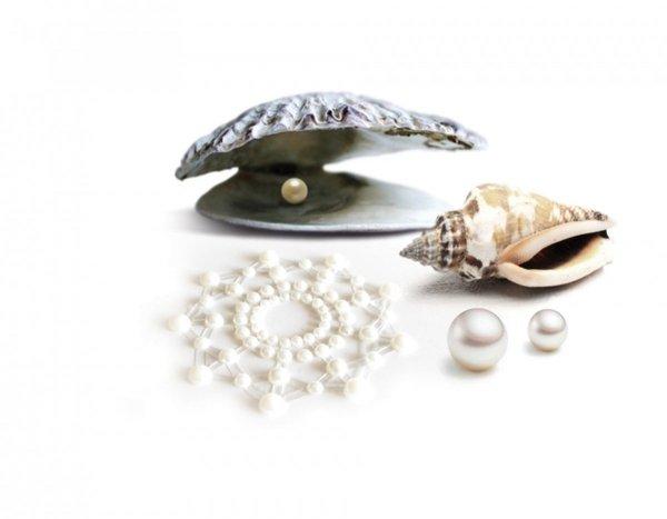 Bijoux Indiscrets Mimi Pearl Nipple Covers - kryształowe naklejki na sutki (perłowy)