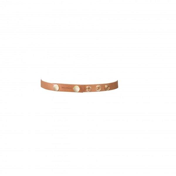 Bijoux Indiscrets MAZE Shorts Garters - skóropodobne podwiązki (brązowy)