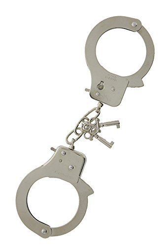 Dream Toys - kajdanki erotyczne z kluczami (Large Metal Handcuffs with Keys)