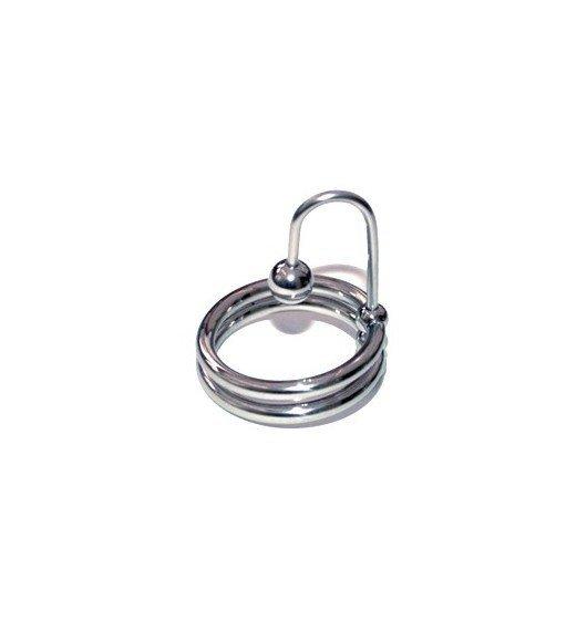 Titus Range Sperm Stopper Double 32mm - pierścień na penisa