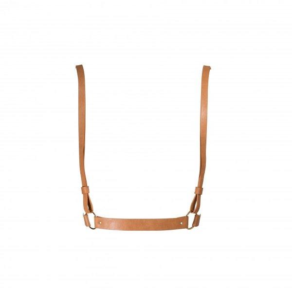 Bijoux Indiscrets MAZE X Harness - uprząż skóropodobna (brązowy)
