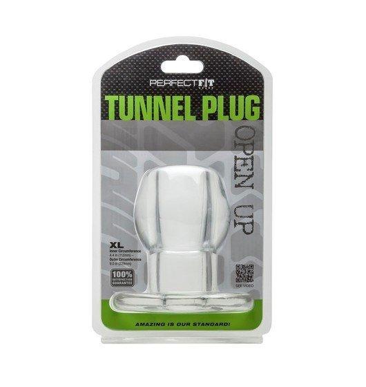 Perfect Fit tunel analny - Ass Tunnel Plug rozmiar XL (przeźroczysty)