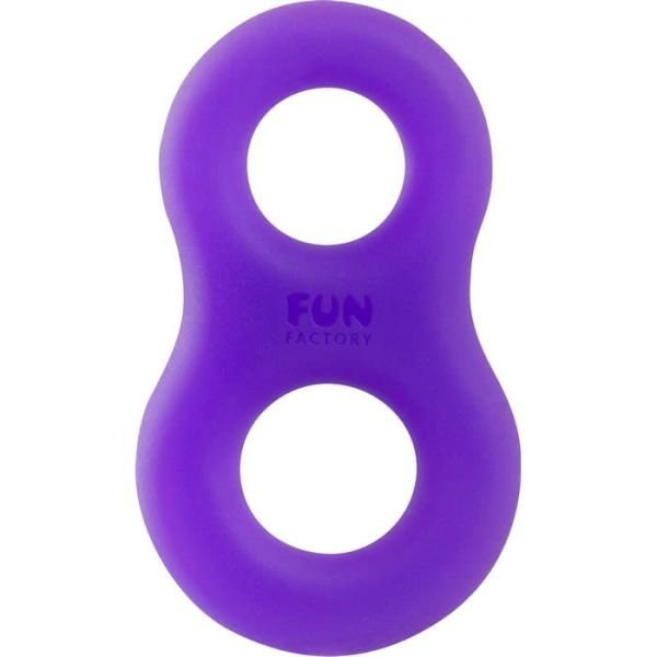 FUN FACTORY 8ight - pierścień erekcyjny (fiolet-turkus)