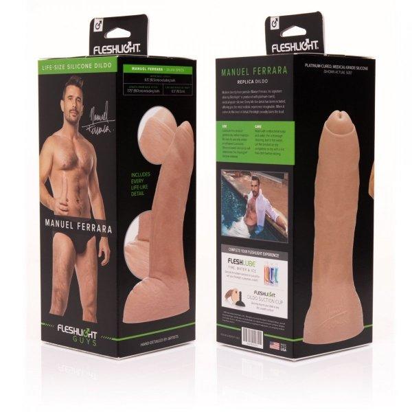 Fleshjack Guys Dildo Manuel Ferrara - sztuczny penis (cielisty)
