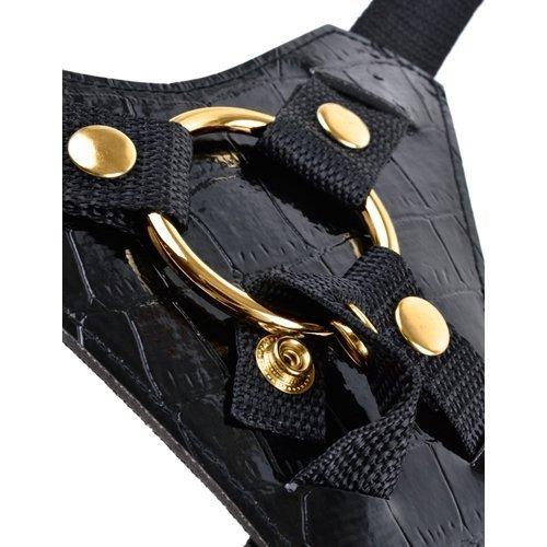 Fetish Fantasy Gold Designer Strap On Dildo (czarny)