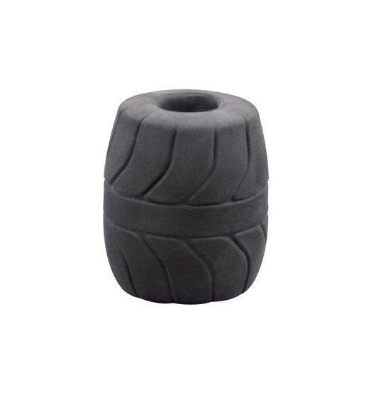 Pierścień na jądra Perfect Fit - SilaSkin Ball Stretcher 50 mm (czarny)