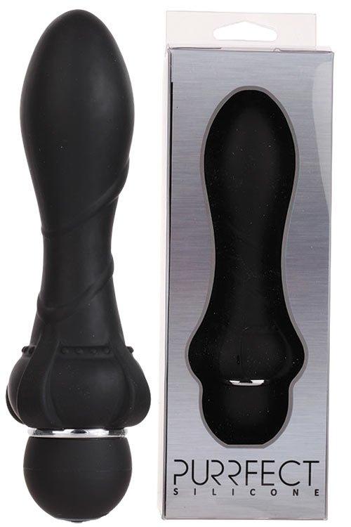 Purrfect Silicone Anal Vibrator Black