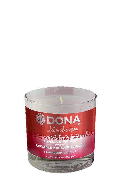Dona Kissable Massage Candle -Strawberry