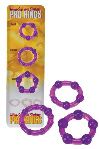 Ultra Soft and Stretchy Pro Rings Purple