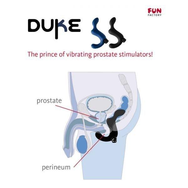Stymulator prostaty FUN FACTORY DUKE CNC, czarny