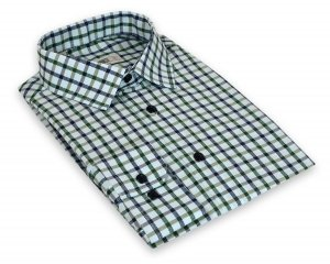 Koszula męska Slim - w zieloną kratkę