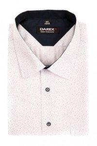 Koszula męska XXL - biala w kropeczki