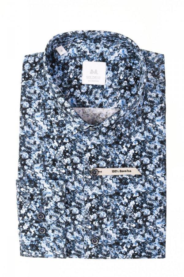 Koszula męska Slim - we wzorek