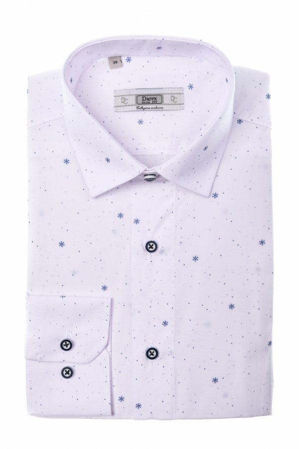 Koszula męska XXXL - biała w śnieżynki