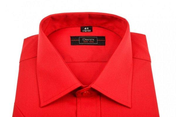 Koszula męska Slim - czerwona