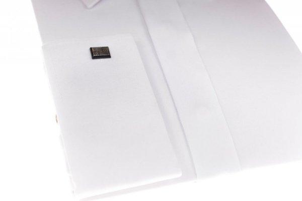 Koszula na spinkę Slim  - biała