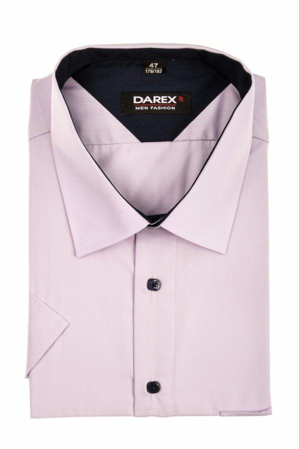 Koszula męska XXL - jasnofioletowa z granatowymi dodatkami
