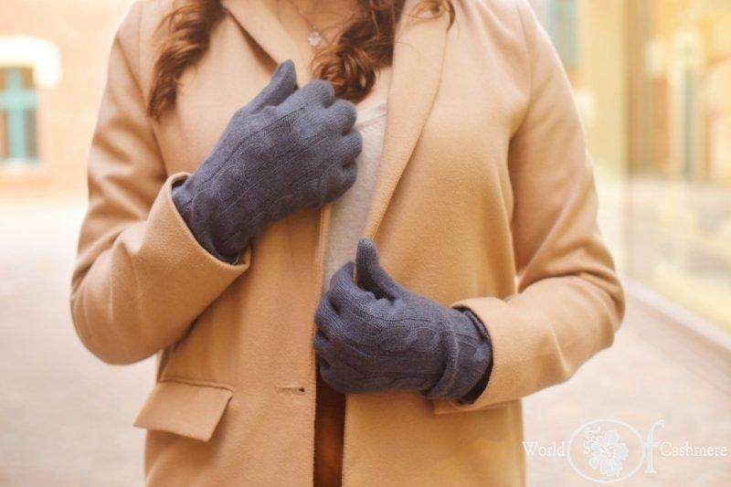 Rękawiczki warkoczowe