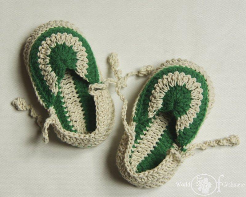 Buciki bawełniane z haftem