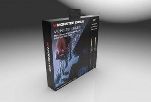 Monster® - M BASS2-12 WW - Prolink Monster Bass® 1/4 Kabel Instrumentalny - 12 ft - Jack Proty - Jack Prosty