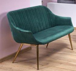 Sofa ELEGANCE 2 XL ciemno zielona