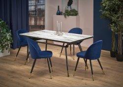 Stół GLAMOUR marmur/czarny