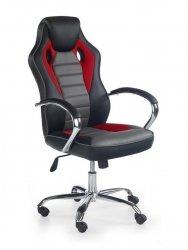 Fotel gabinetowy SCROLL czarny/czerwony/popielaty