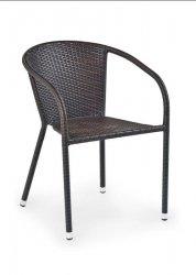 Krzesło ogrodowe MIDAS ciemny brąz