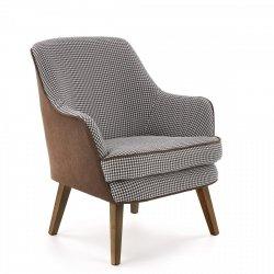 Fotel wypoczynkowy TELAVIV biało-czarny/brązowy