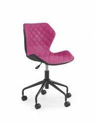 Fotel młodzieżowy MATRIX różowo-czarny
