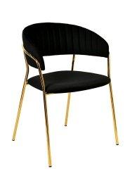 Krzesło MARGO czarny/złoty