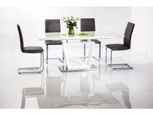 Stół szklany/rozkładany LAUREN 140(180)x85 biały