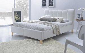 Łóżko tapicerowane SANDY biały