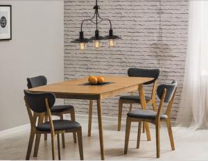 Stół drewniany/rozkładany FELICIO 120x75 dąb