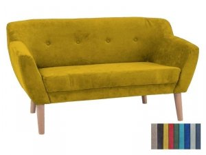 Sofa BERGEN 2 żółta/buk