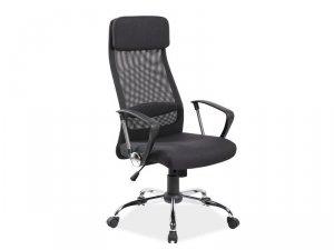 Fotel obrotowy tkanina/siatka Q345 czarny