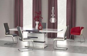 Stół rozkładany MONACO biało/popielaty