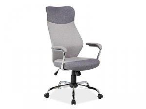 Fotel obrotowy tkanina Q319 szary