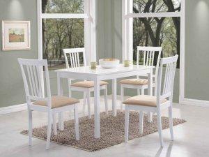 Stół drewniany FIORD 80x60 biały