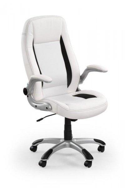 Fotel gabinetowy SATURN biały/czarny