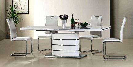 Stół rozkładany FANO 160/90 biały