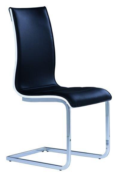 Krzesło H133 czarny/biały
