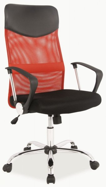 Q-025 Fotel gabinetowy czerwony