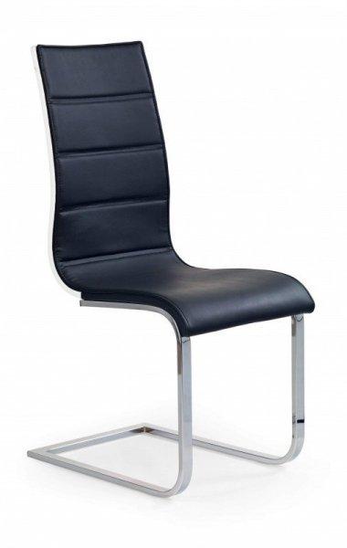 Krzesło K104 czarne/białe -ekoskóra